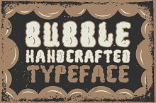 """Handcrafted """"Bubble"""" font"""