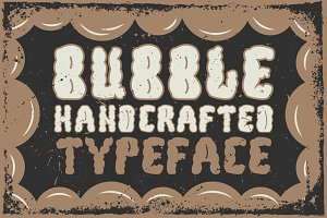 "Handcrafted ""Bubble"" font"