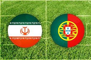Iran vs Portugal football match