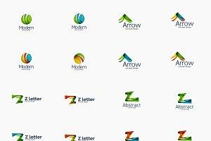 Modern company logo set