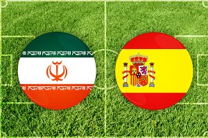 Iran vs Spain football match