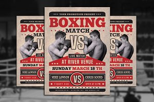 Boxing Match Flyer