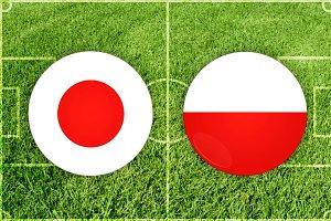 Japan vs Poland football match