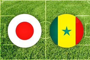 Japan vs Senegal football match