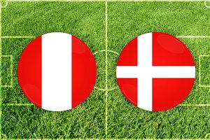 Peru vs Denmark football match