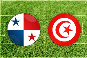 Panama vs Tunis football match