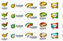 Cloud logo collection
