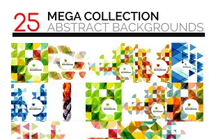 25 abstract backgrounds