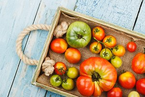 Set of ripe tomatoes