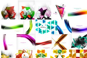 25 abstract geometric backgrounds