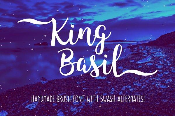King Basil - handmade brush font
