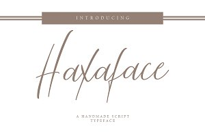 Haxaface Script