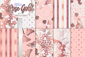 Rose Gold & blush Floral collection