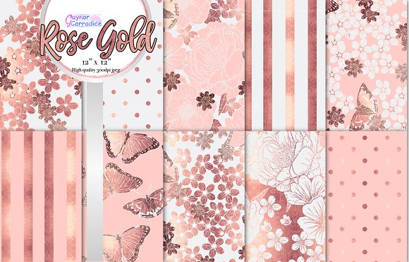 Rose Gold Blush Floral Collection