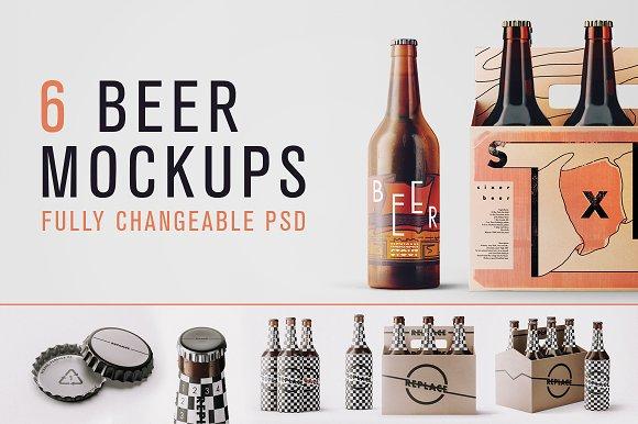 Free Changeable Beer Bundle Mockups