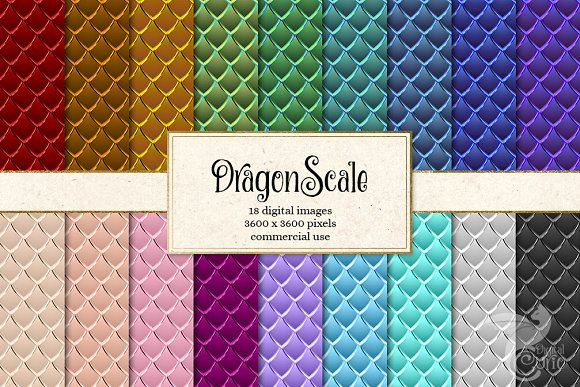 Dragon Scale Digital Paper