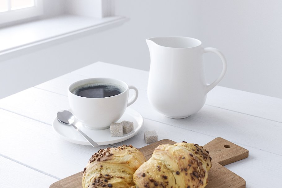 Decor Set Chocolate Croissant