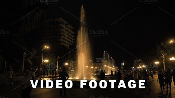 Fountain At The Night Georgia