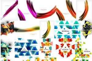 25 abstract background mega set