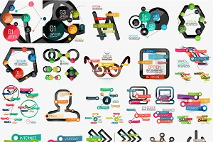 Various web infographic designs