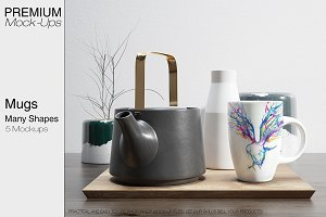 Mugs Mockups - Many Shapes