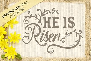 He is Risen Easter SVG Cut file for
