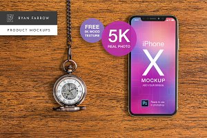 iPhone X Real Product Mockup - 5K