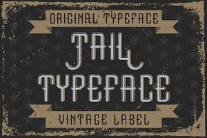 "Handcrafted font ""Tail"""