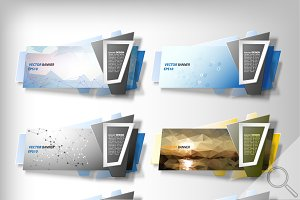 Infographic abstract banners