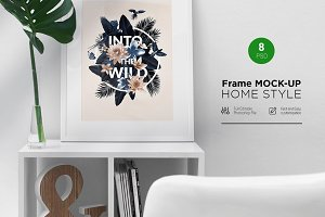 Frame Mock-Up Home Style (8 PSD)