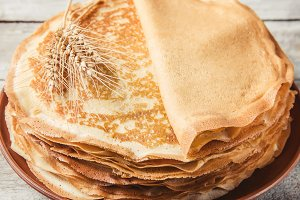 Crepes are homemade. Pancakes