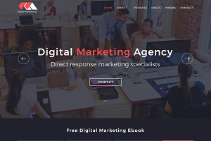 Digital Marketing Website PSD