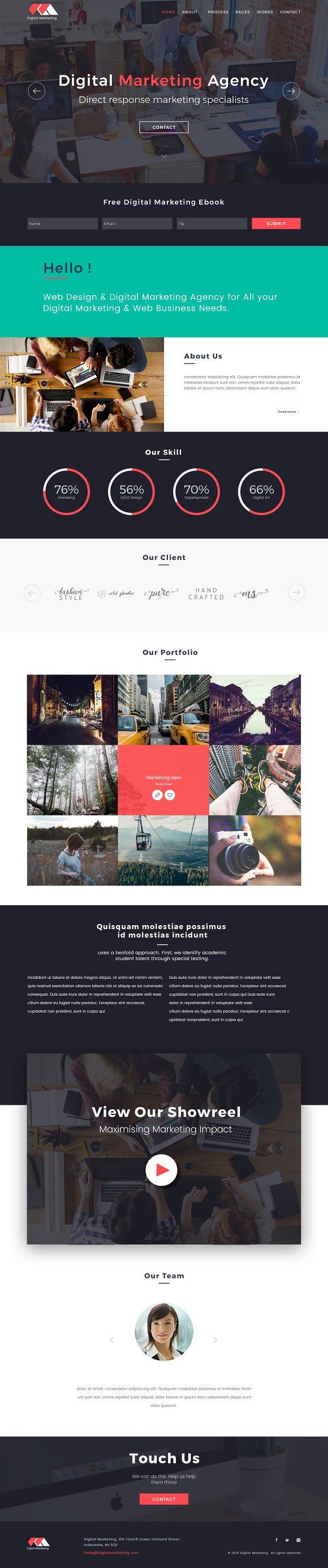 Digital Marketing Website PSD