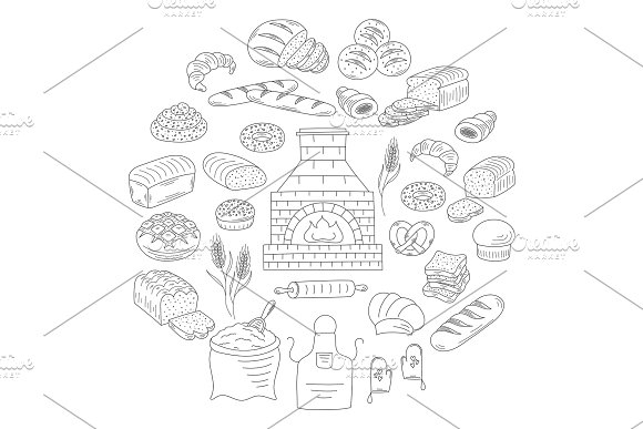 Bakery and pastry collection