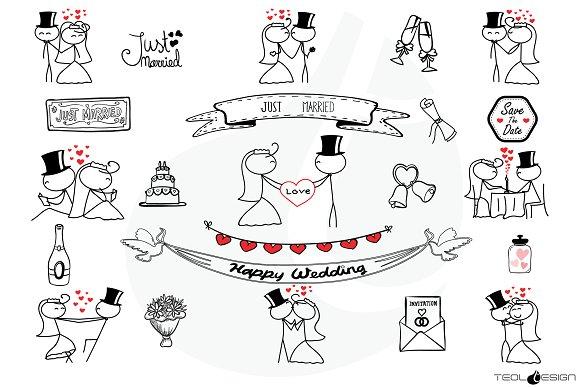stick figure love stick people illustrations creative market