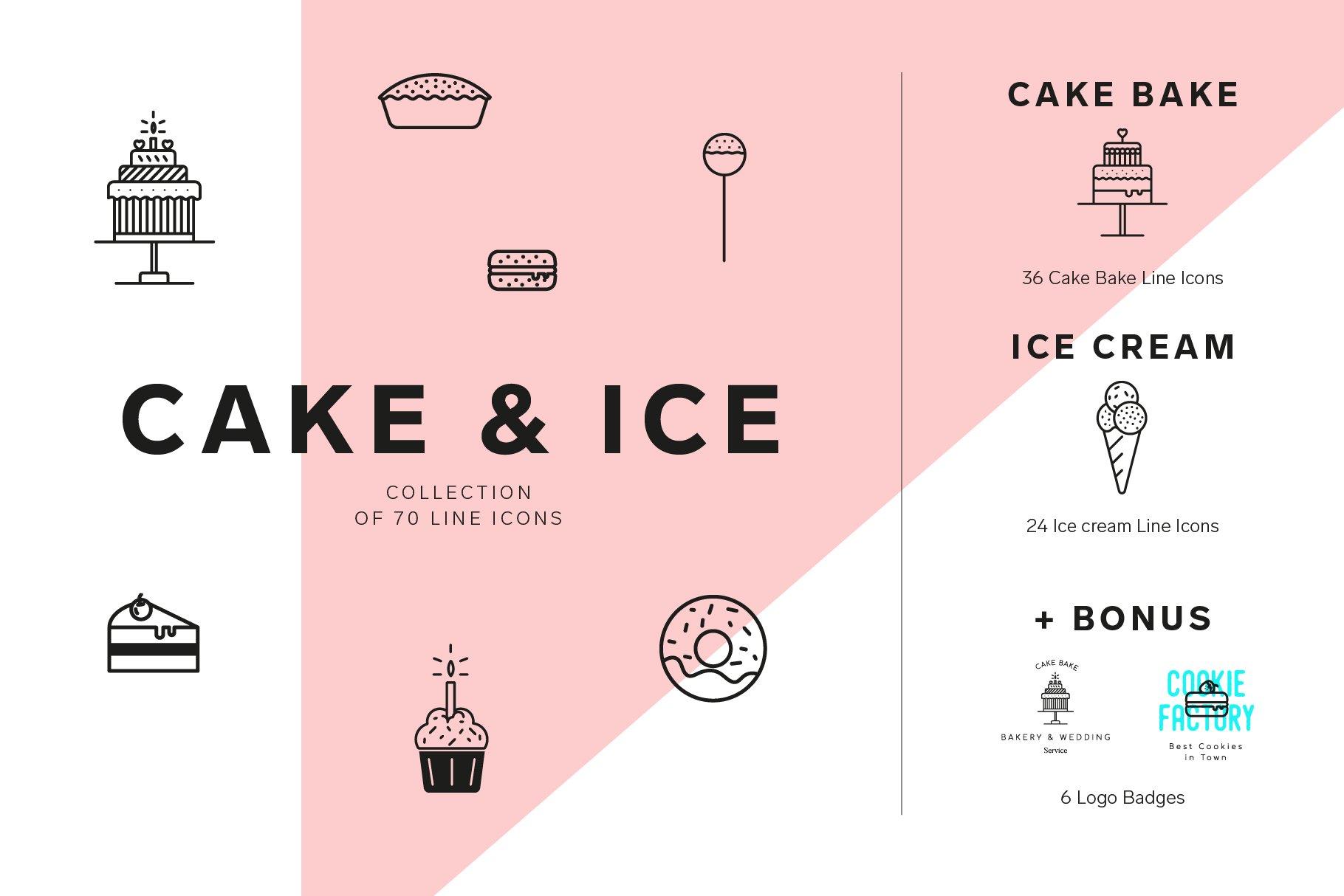 cakes and ice cream icon set pre designed photoshop graphics creative market cakes and ice cream icon set pre