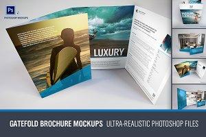 Gatefold Brochure Mockups