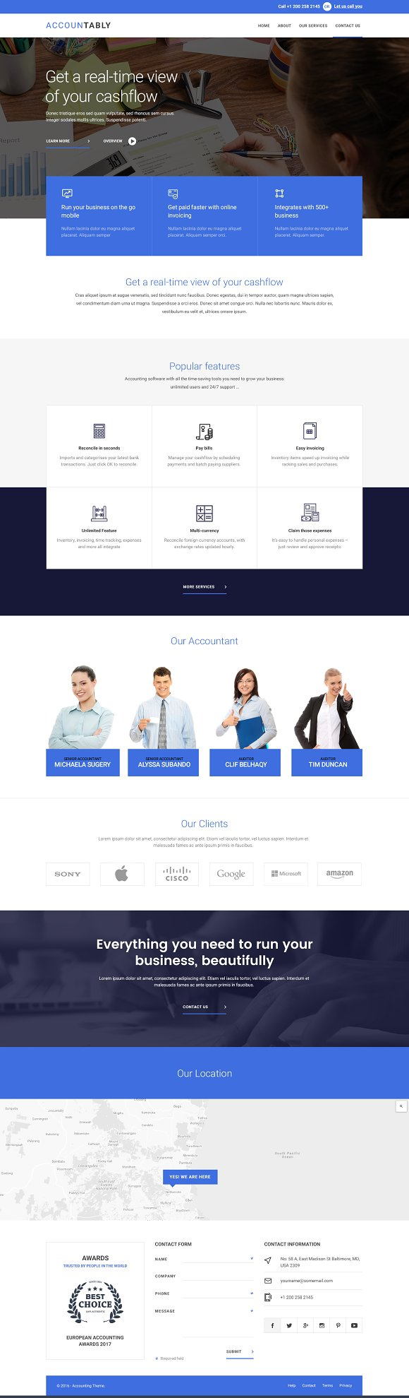 Landing Homepage PSD Bundle