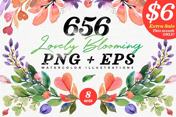 656 Lovely Blooming Hearts Greenery