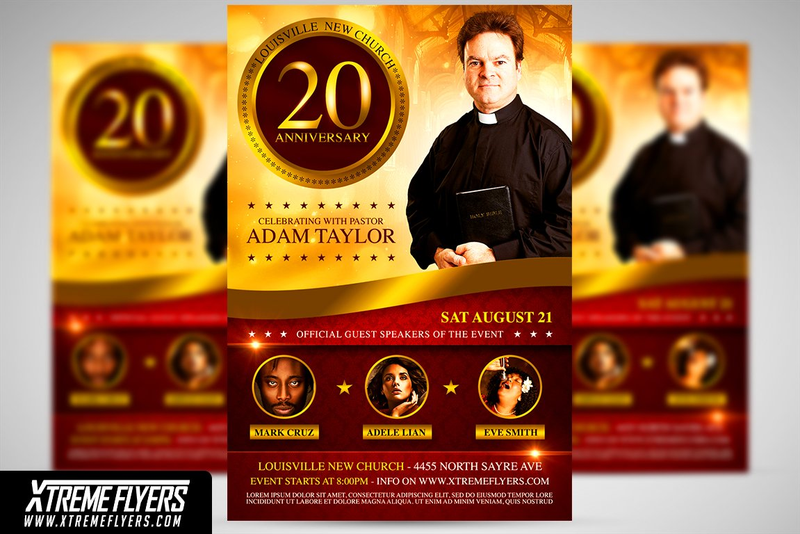 Church Anniversary Flyer Template ~ Flyer Templates ~ Creative Market