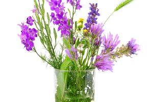 Wildflowers in glass