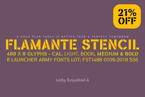 Flamante Stencil -4 fonts-