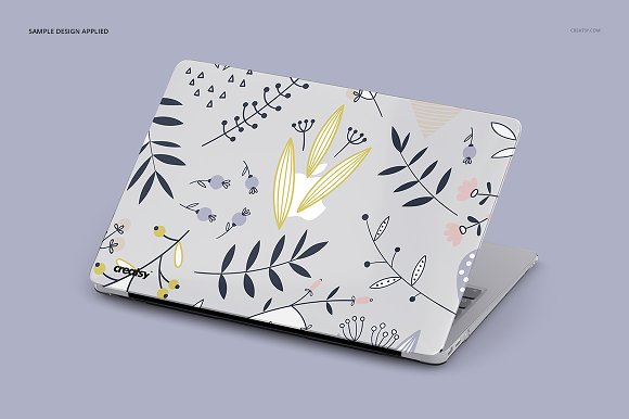 Macbook Clear Case Mockup Set in Product Mockups - product preview 4