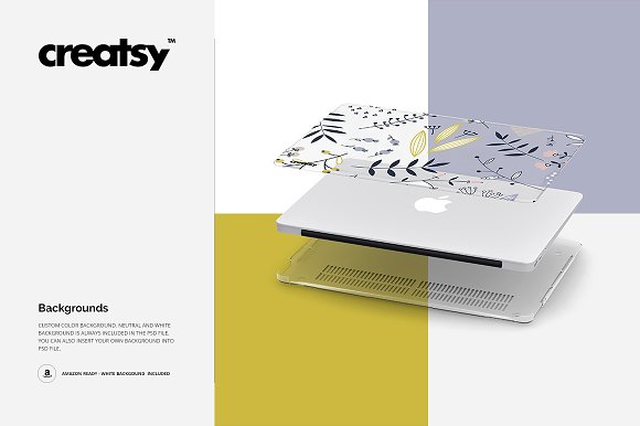 Macbook Clear Case Mockup Set in Product Mockups - product preview 9