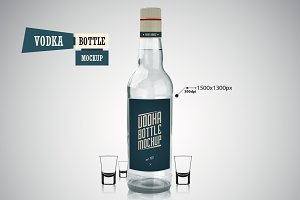 Vodka Bottle - Mockup