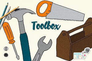 Toolbox Fathers Day Illustrations