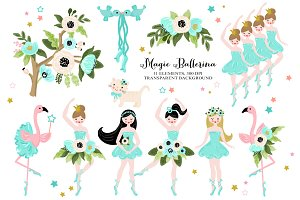 Magic Ballerina Dancer Clip art