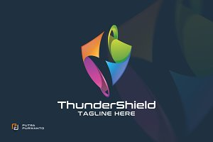 Thunder Shield - Logo Template