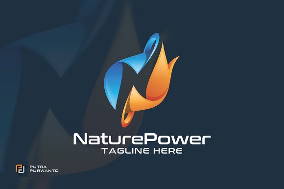 Nature Power Logo Template