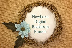 45 Newborn Digital Backdrops
